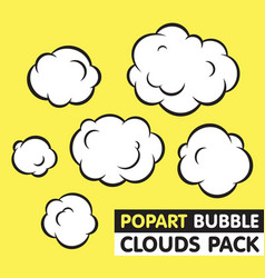 Pop art bubble clouds pack vector image vector image