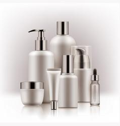 realistic luxury premium brand set of cosmetic vector image vector image