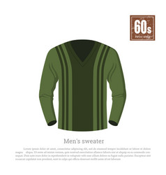 retro sweater in realistic style vector image vector image