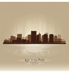 Richmond virginia skyline city silhouette vector