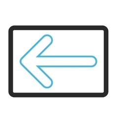 Rounded arrow left framed icon vector