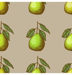 Seamless pattern with pomelo vector