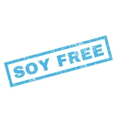 Soy free rubber stamp vector