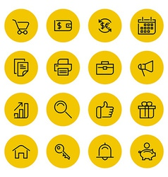 Thin line icons set for web and mobile vector image vector image