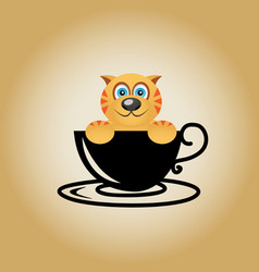 Tiger logo coffee vector