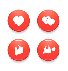 valentines day set of badges isolated on vector image vector image
