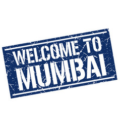 welcome to mumbai stamp vector image vector image