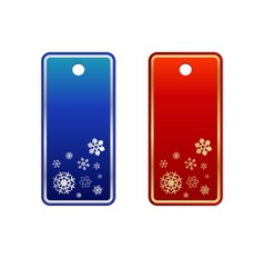 Set of red cristmas tags vector