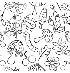 seamless pattern with mushroom vector image