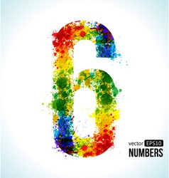 Color paint splashes Gradient Number 6 vector image