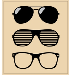 Set of sunglasses background vector