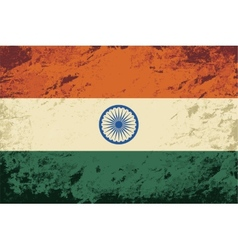 Indian flag grunge background vector