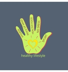 Healthy lifestyle symbol vector