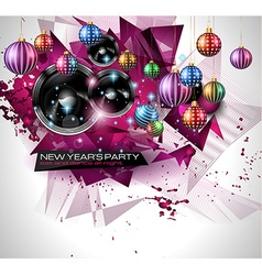 New years party flyer design for nigh clubs event vector