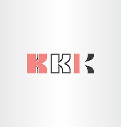 Black red letter k logo set vector