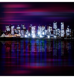 Abstract panoramic purple background with night vector