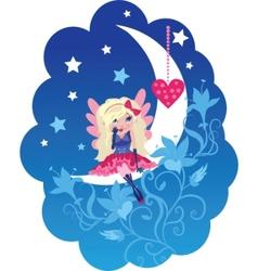 cute love angel cartoon vector image