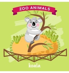 Zoo animal koala vector