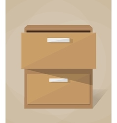 Archive filling cabinet vector