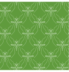 Seamless pattern made of mosquitos vector