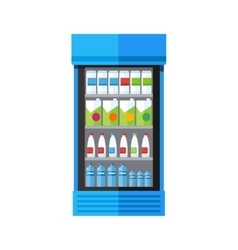 Showcase refrigerator drinks vector