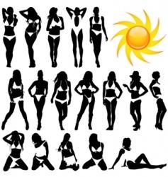 bikini women vector image vector image