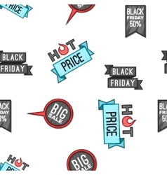 Black friday sale pattern cartoon style vector