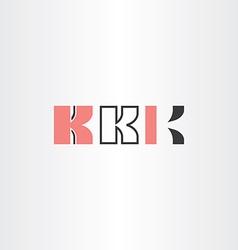 black red letter k logo set vector image vector image