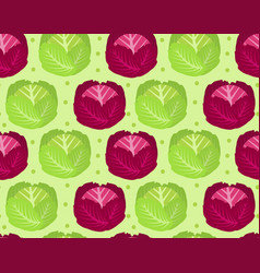 cabbage seamless pattern red cabbage endless vector image