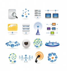connection and internet icons vector image
