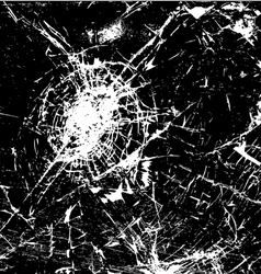 Cracked Glass vector image vector image