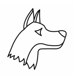 Doberman dog icon outline style vector