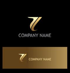 gold arrow abstract business logo vector image vector image