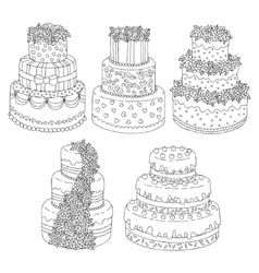 Hand drawn seamless pattern with triple birthday vector image vector image