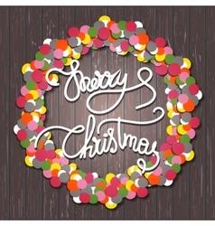 Holly Jolly christmas wreath vector image vector image