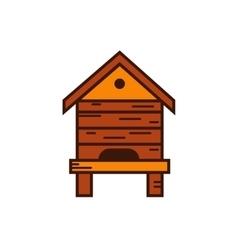 Honey bee beehive vector