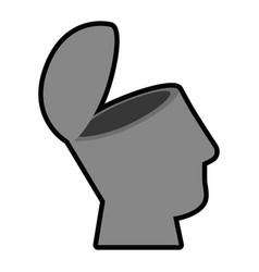 Human head design vector