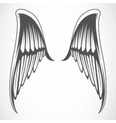 iconic wings vector image vector image
