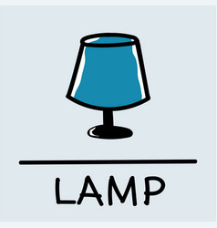lamp hand-drawn style vector image vector image