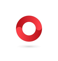 Letter o number 0 logo icon design template vector