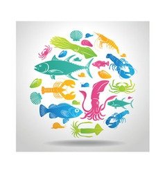logo Seafood vector image