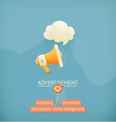Marketing and promotion minimalistic background vector image