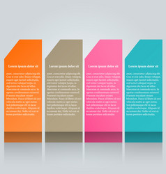 modern infographics colorful design vector image