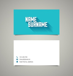 Modern simple business card template with long vector image vector image
