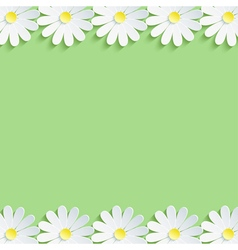 Nature background with 3d chamomiles vector image vector image