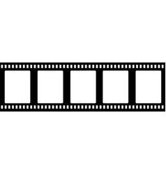 old fashioned 35mm filmstrip isolated vector image