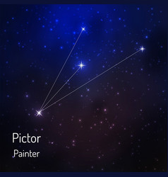 onstellation in the night starry sky vector image vector image