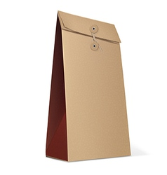 Paper Bag isolated on white vector image