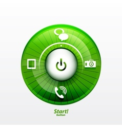 Power button with options vector image