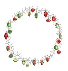 Round Christmas on white Simple colors vector image